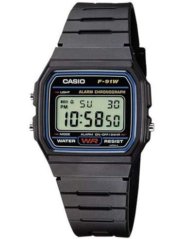 RELOJ CASIO COLLECTION  F-91W-1YER
