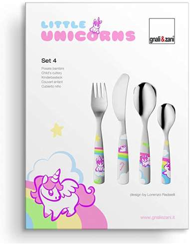Cubierto acero  little unicorns 4...